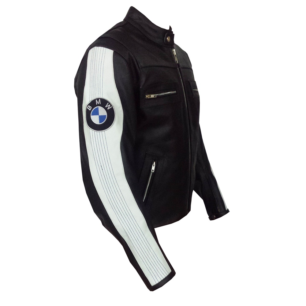 bmw men's club leather motorcycle jacket